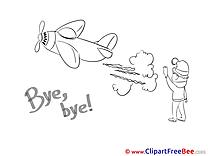 Plane Boy Pics Goodbye free Image