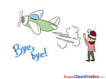 Plane Child Boy Goodbye download Illustration