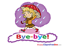 Rain Umbrella Girl free Illustration Goodbye