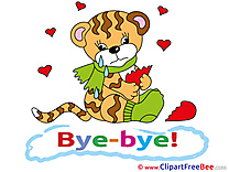 Tiger Broken Heart Pics Goodbye Illustration