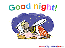 Bee Bed Good Night Clip Art for free
