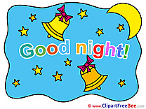 Bells Stars Moon Clip Art download Good Night