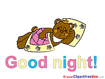 Blanket Pillow Bear download Good Night Illustrations