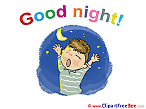 Boy Moon Stars Pics Good Night  free Image