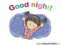 Girl download Good Night Illustrations