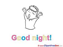Kid Clip Art download Good Night