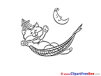 Kitten Clipart Good Night free Images
