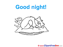Mouse Kitten printable Good Night Images