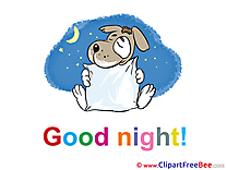 Pillow Dog Moon Clipart Good Night free Images