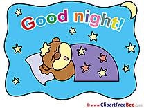 Sky Stars Bear Moon free Cliparts Good Night