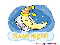 Sleeping Moon printable Good Night Images