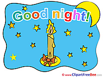 Stars Candle Moon Pics Good Night free Cliparts