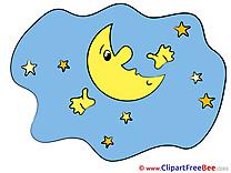 Stars Moon Clipart Good Night Illustrations