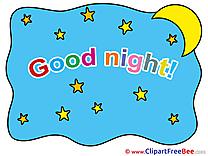 Stars Sky Moon free Illustration Good Night