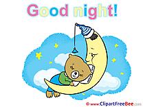Teddy Bear Moon printable Illustrations Good Night