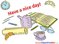 Tea Kettle Book Croissant Clipart Have a Nice Day free Images