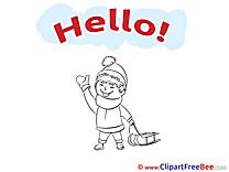 Boy Winter Sleigh Pics Hello free Cliparts