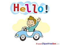 Driver Car Man Pics Hello Illustration