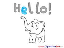 Elephant Hello download Illustration