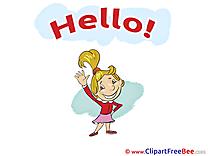 Kid Girl free Illustration Hello
