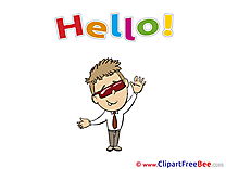 Man Clipart Hello free Images