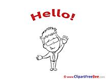 Man Sunglasses Clip Art download Hello