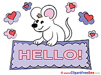 Mouse Hearts Clipart Hello free Images
