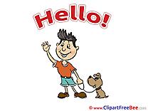 Puppy Boy Clip Art download Hello
