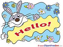 Rabbit Chamomiles download Hello Illustrations