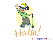 Scooter Boy Clipart Hello free Images