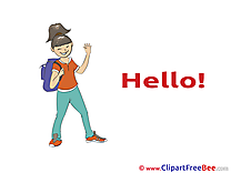 Student Girl Hello Illustrations for free