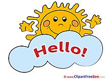 Sun Morning Cloud Pics Hello free Cliparts