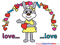 Bunny in Love Illustrations for free
