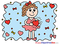 Girl Heart printable Love Images