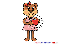 Heart Bear Clip Art download Love