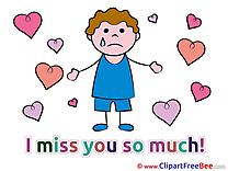 Boy Hearts Pics I miss You free Cliparts