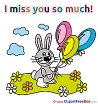 Bunny Balloons download Clipart I miss You Cliparts