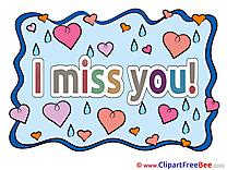 Clip Art download I miss You