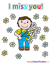 Flowers Boy Pics I miss You free Image