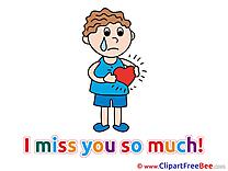 Man Broken Heart free Illustration I miss You