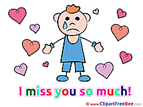 Man Hearts download I miss You Illustrations