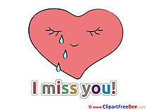 Pics Heart I miss You Illustration