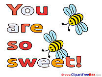 Bees Clipart You are sweet Illustrations