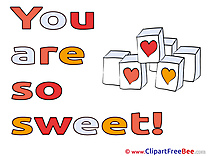 Blocks Hearts You are sweet free Images download