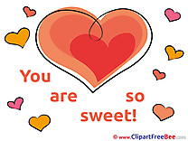 Heart download You are sweet Illustrations