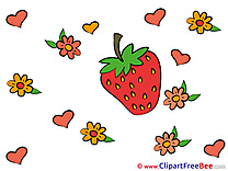 Strawberry Pics You are sweet Illustration