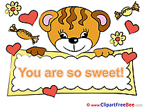 Tiger Hearts printable Illustrations You are sweet