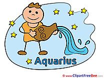 Aquarius Pics Zodiac Illustration
