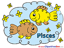 Pisces Cliparts Zodiac for free