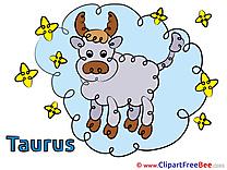 Taurus printable Zodiac Images